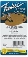 "Fredrix Canvas Roll - Acrylic Primed Polyflax No.1097 (901) ""Cherokee"" is an 11oz medium weight blended Polyflax/Cotton duck with a medium texture.  Stronger than 100% cotton."