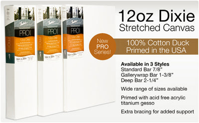 Fredrix Pro Dixie Stretch-It-Yourself Canvas Kits are a revolutionary way of stretching large canvases.