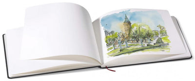 The Hahnemuhle watercolour book has a durable cloth hardcover with 30 sheets of 200gsm high quality, fine-grained, natural white and acid-free paper.