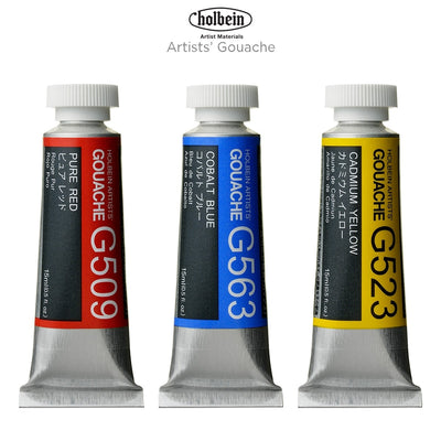 Holbein Artist Designer Gouache G703 set 18 x 5ml tubes more finely ground than any other competing gouache.