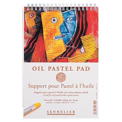 Sennelier Oil Pastel Cards in a spiral bound book with 2 sheets per book.