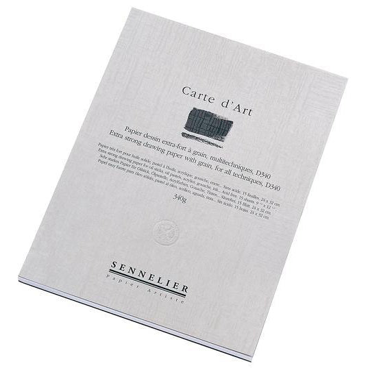 SENNELIER CARTE D'ART PADS  Acid-free multimedia paper for oil pastel, oil sticks, and specially formulated to resist bleeding. The pads consist of heavy-weight textured 340gsm paper. Note that single large sheets of this paper are available.