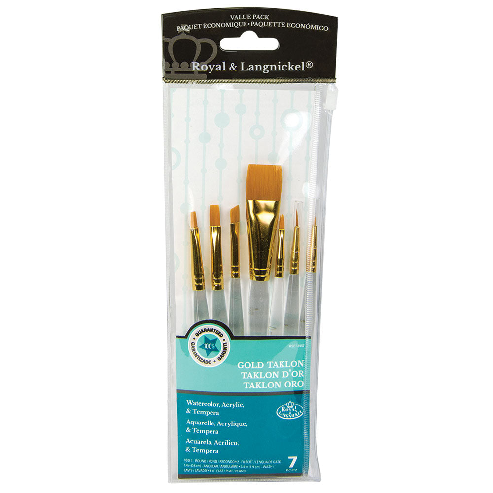 Set of 5 short handle brushes. Perfect for watercolours and acrylic painting.
