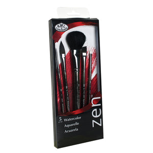 Set 833 is Zen™ brushes feature a better quality natural hair, soft black synthetic and stiff synthetic hair.