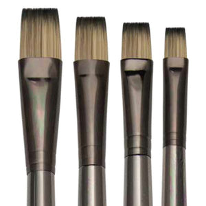 The Royal Langnickel Zen™ Series 53 Bright Ferrule is available in 5 sizes and perfect for Oil and Acrylic Painting.