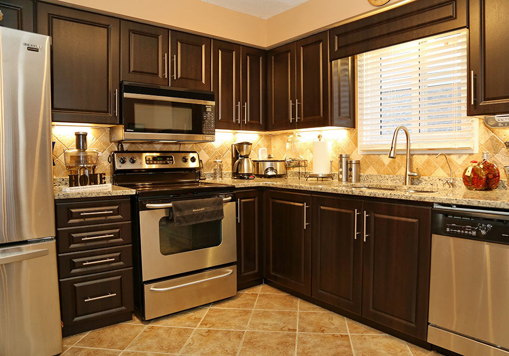 Dark Brown Cabinets