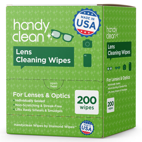 Handyclean™ Lens Cleaning Wipes - 200 Packets