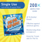 Bye Bye Bad Guy 65% Ethyl Alcohol Sanitizing Wipes - 200 Wipes per Case