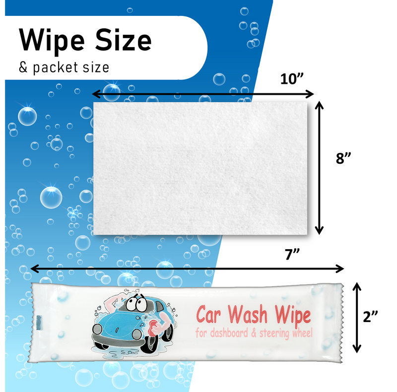 Car Wash Dashboard Wipes - Clean, Condition and Protect Surface