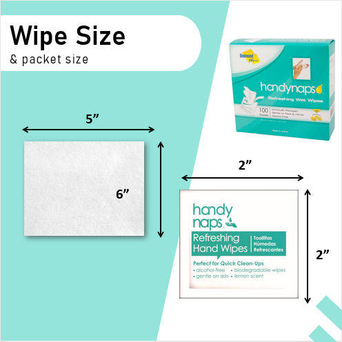 Handynaps® Refreshing Wet Wipes