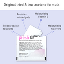 LA Fresh Nail Polish Remover Pads (Contains Acetone) Individually Wrapped Wipes