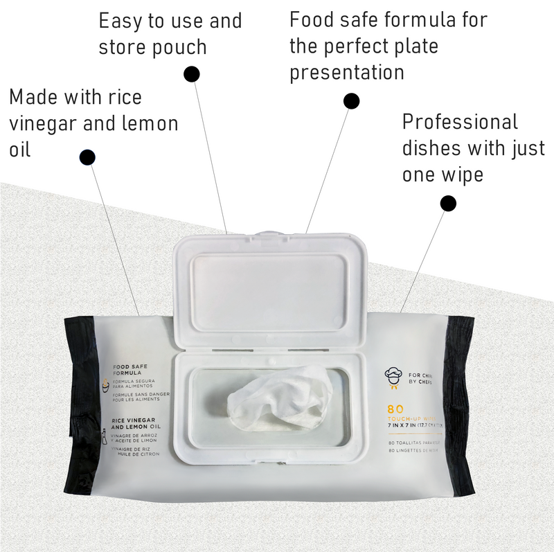 Perfect Plate™ Food Safe Cleaning Wipes Soft Pack with Flip Lid - 80ct Per Pouch - 12 Pouches Per Case