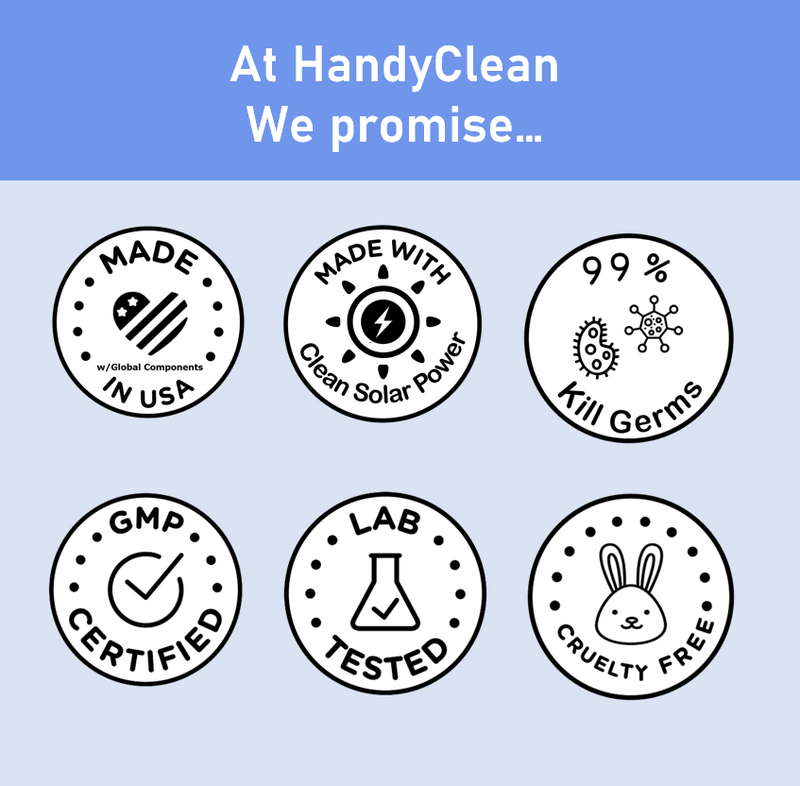 Products Handyclean™ Alcohol-Free Hand Sanitizing Wipes Jumbo Roll - 1000 Wipes Per Roll - 2 Rolls Per Case