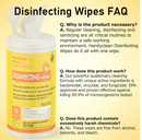 New HandyClean Hard Surface Disinfectant Wipes 75ct Canister Effective Against Coronavirus