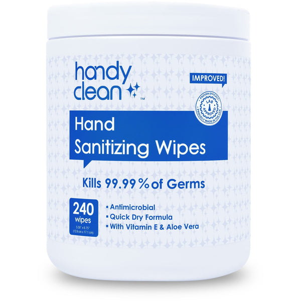 Handyclean™ 64% Ethyl Alcohol  Hand Sanitizing Wipes -   240 Count Canister