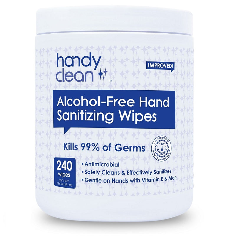 Handyclean™ Alcohol-Free Sanitizing Wipes - 240 Wipes per Canister