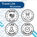 Travel Lite Hand Sanitizing Gel 70% ethyl alcohol, 1.2ml, individual packet, 99.9% Effective Against Most Common Germs