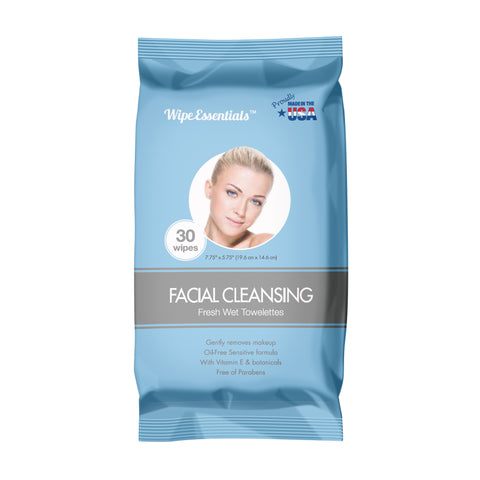 Oil Free Facial Cleansing Wipes 30ct pouch