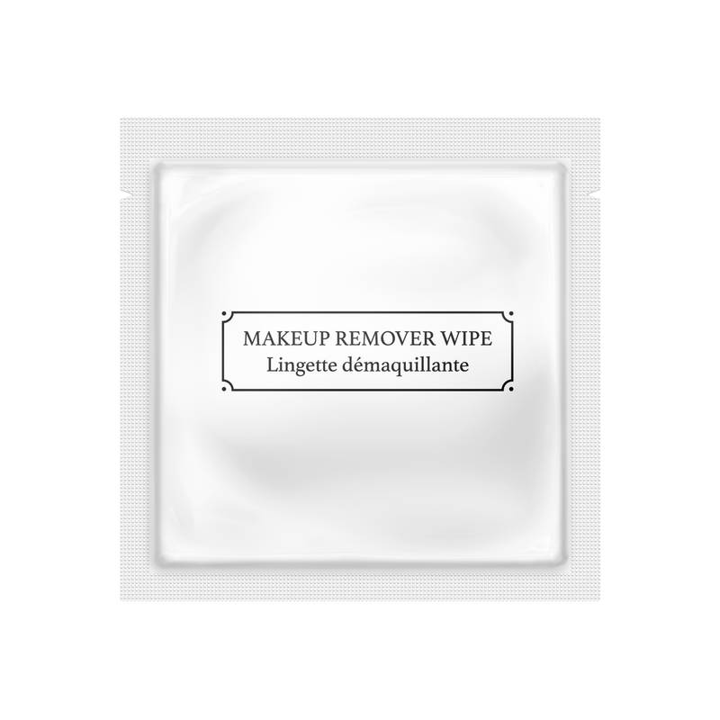 LA Fresh® GLAM MAKEUP REMOVER WIPES - 500 Single Packets - Matte Pearl White **