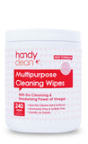 Handyclean™ Multi Purpose Cleaning Wipes 240ct Canister - Case of 12 **