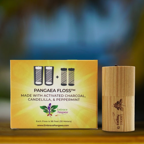 Pangaea Floss™ Made With Activated Charcoal, Candelila, & Peppermint
