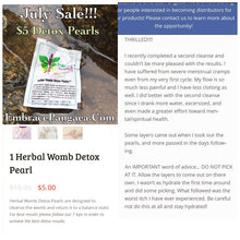 3 Yoni Detox Vaginal Pearls - Herbal Vaginal Detox Cleanse (3 pearls = 1 set)