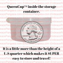 QueenCup™: Clear Collapsible Menstrual Cup w/ FREE storage case.