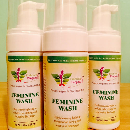 WHOLESALE - (SMALL 3oz Bottle) 100% Natural Foaming Feminine Wash - A pH Balanced Cleanser w/ Rose & Honeysuckle Extracts (10 SETS)