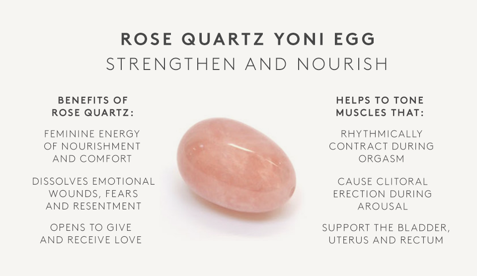 Rose Quartz Yoni Eggs Set Of 3 Plus Bonus Free