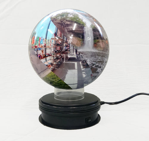 Rotating Base for Snapspheres Globe (Black)