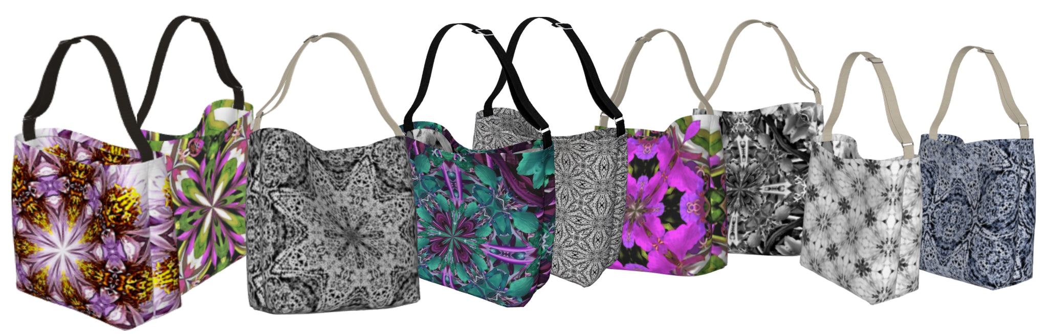Stretchy Eco Fabric Hobo Bag Crossbody Tote