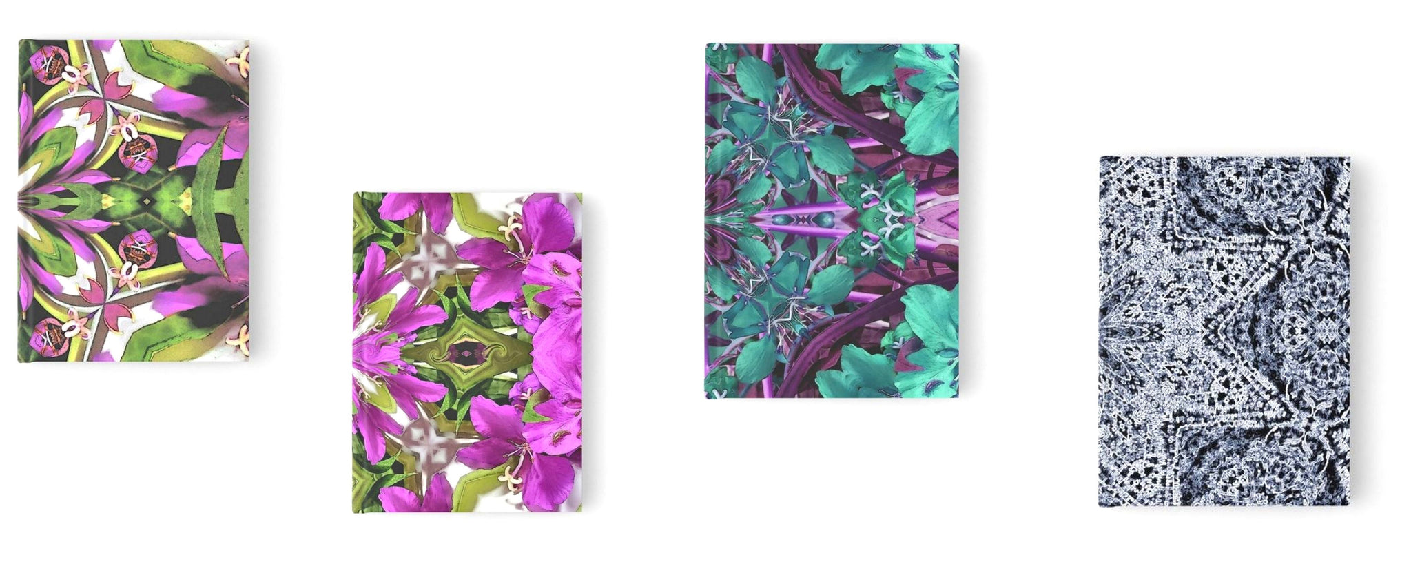 Blank journals and notebooks with Alaska floral prints