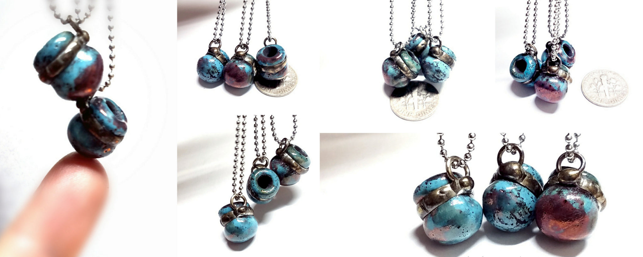 Raku ceramic jewelry and home decor