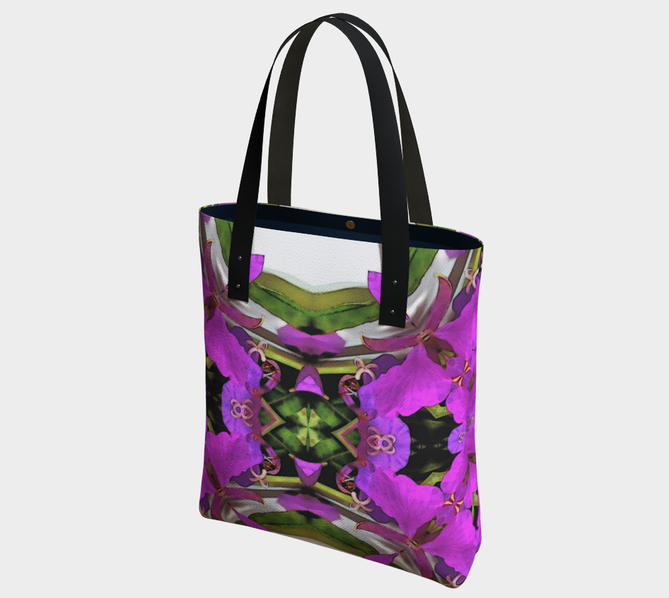 Shoulder Bag in Woodland Fairy Botanical Print