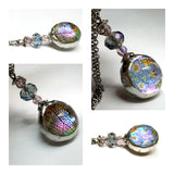 Trendy Jewelry Nature Glass Terrarium Orb Necklace