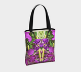Urban Tote Bag in a Nature Floral Mandala Print Vibrant Colorful Accessories