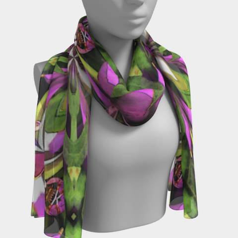 Festival fashion ladies long scarf in wild mandala print