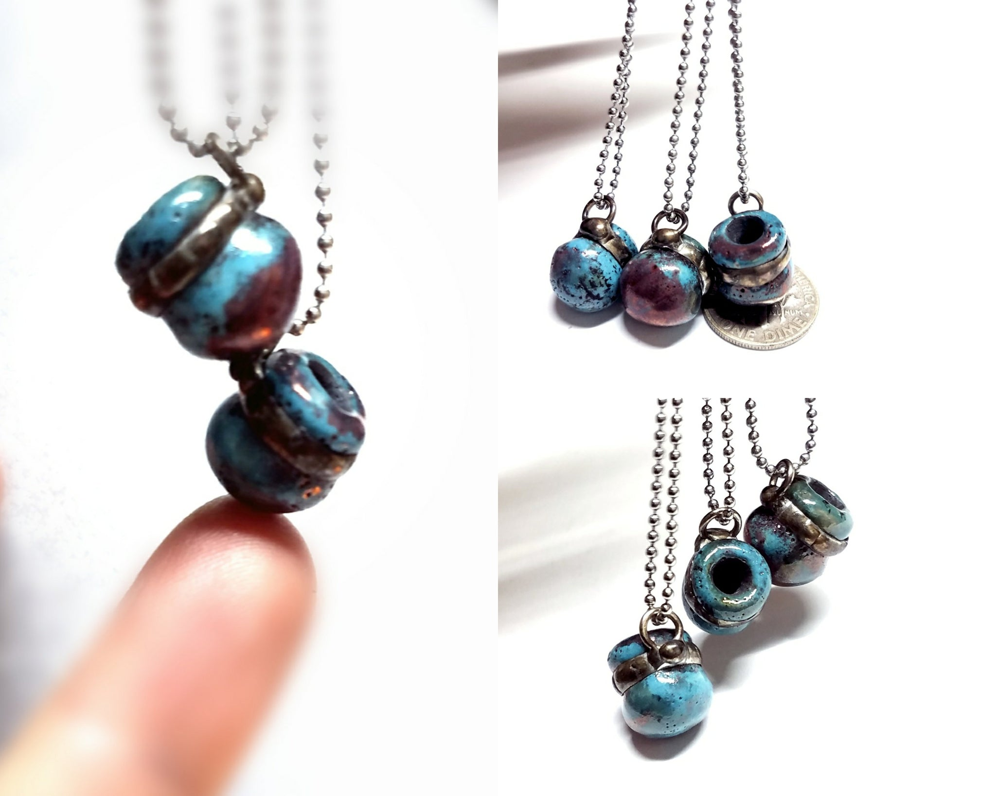 Tiny aromatherapy bottle necklace