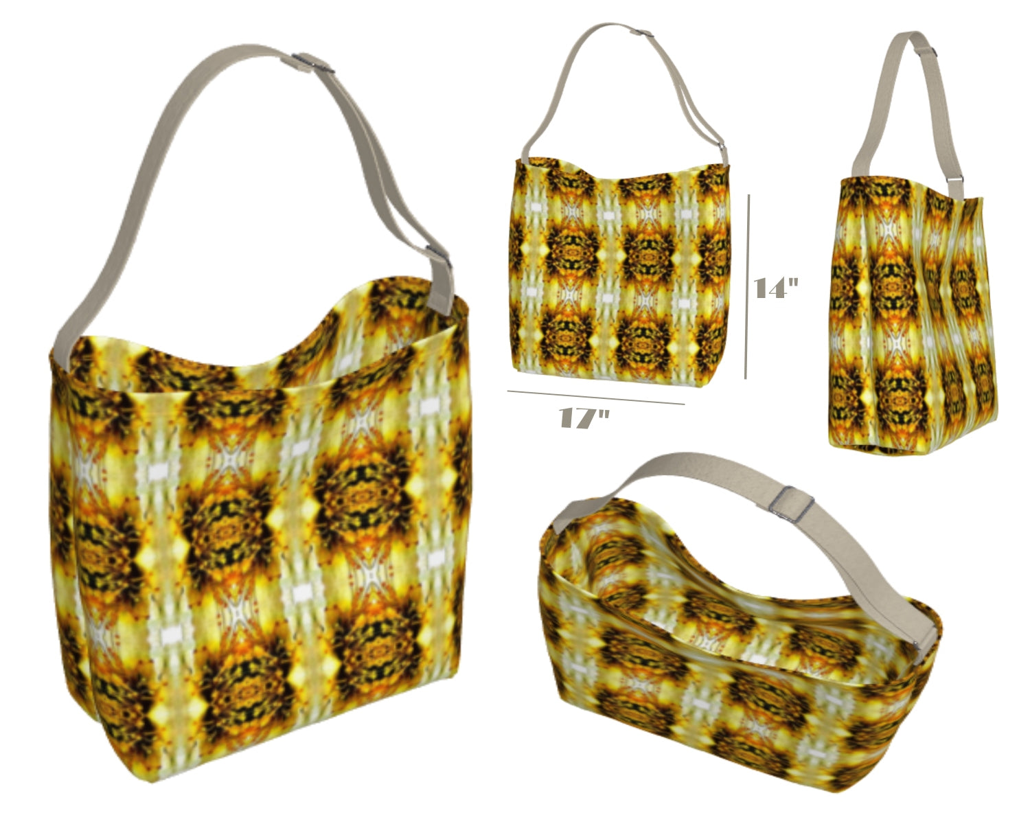 Washable Designer Print Bag in Fabric