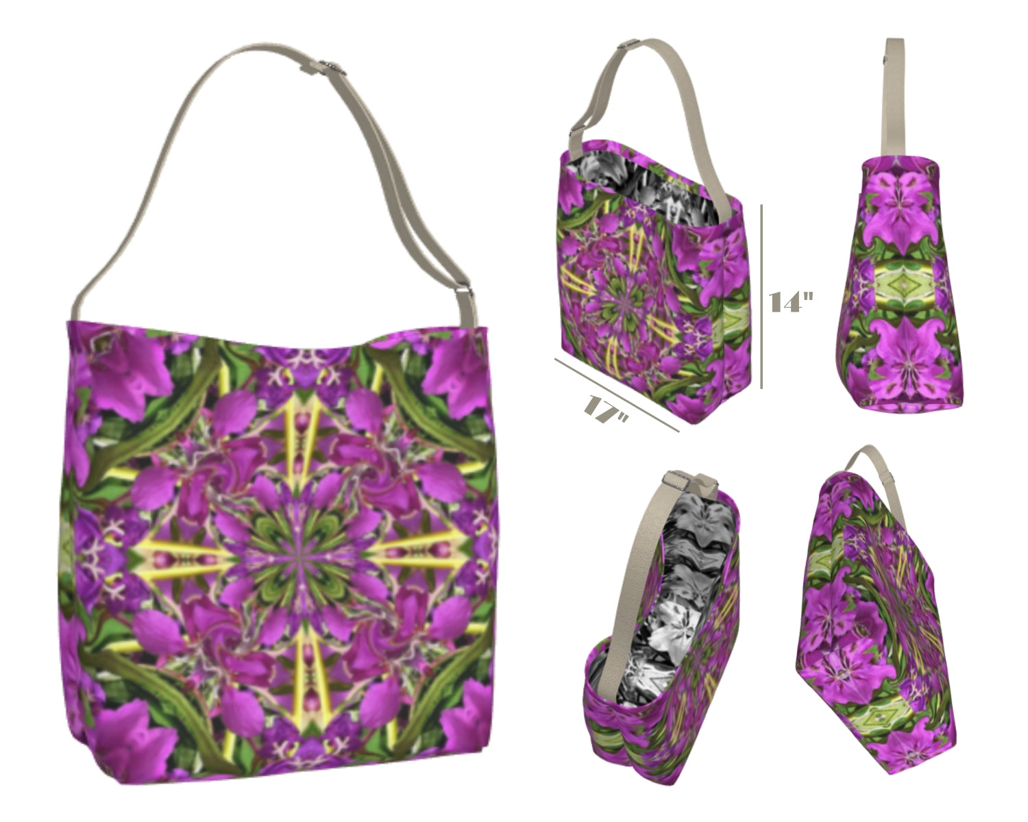 Bright Summer Floral Print Bag