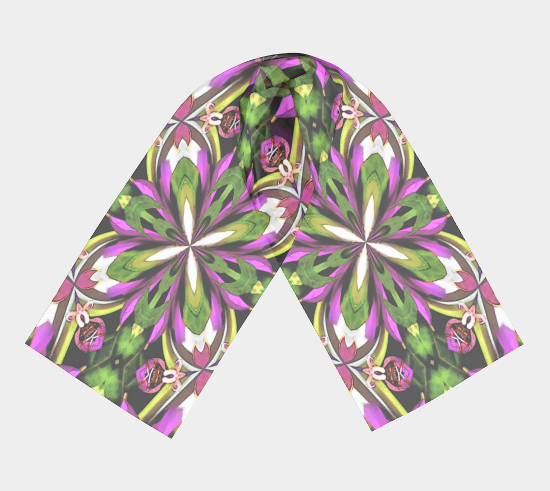 Ladies Long Scarf Floral Print