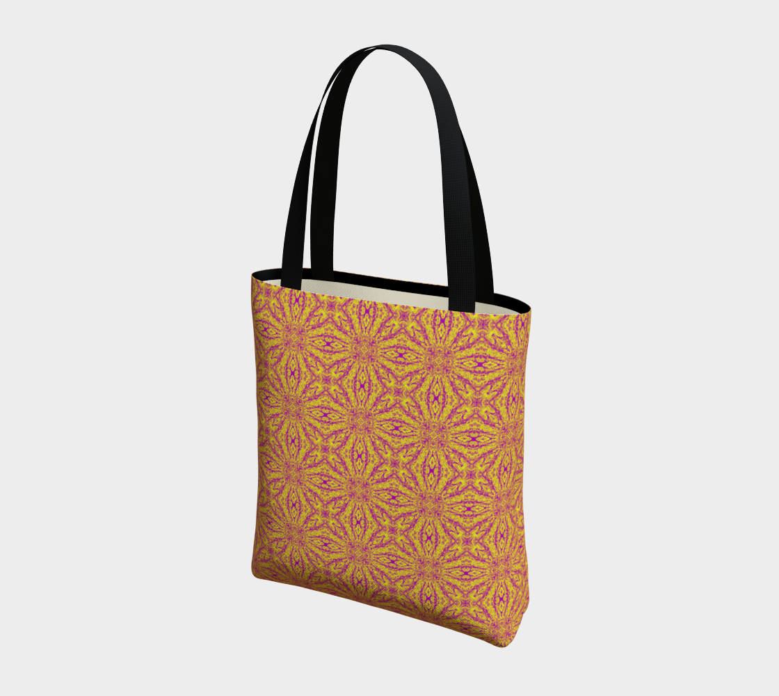 Classic Print Poly Canvas Shoulder Bag in Pumpkin