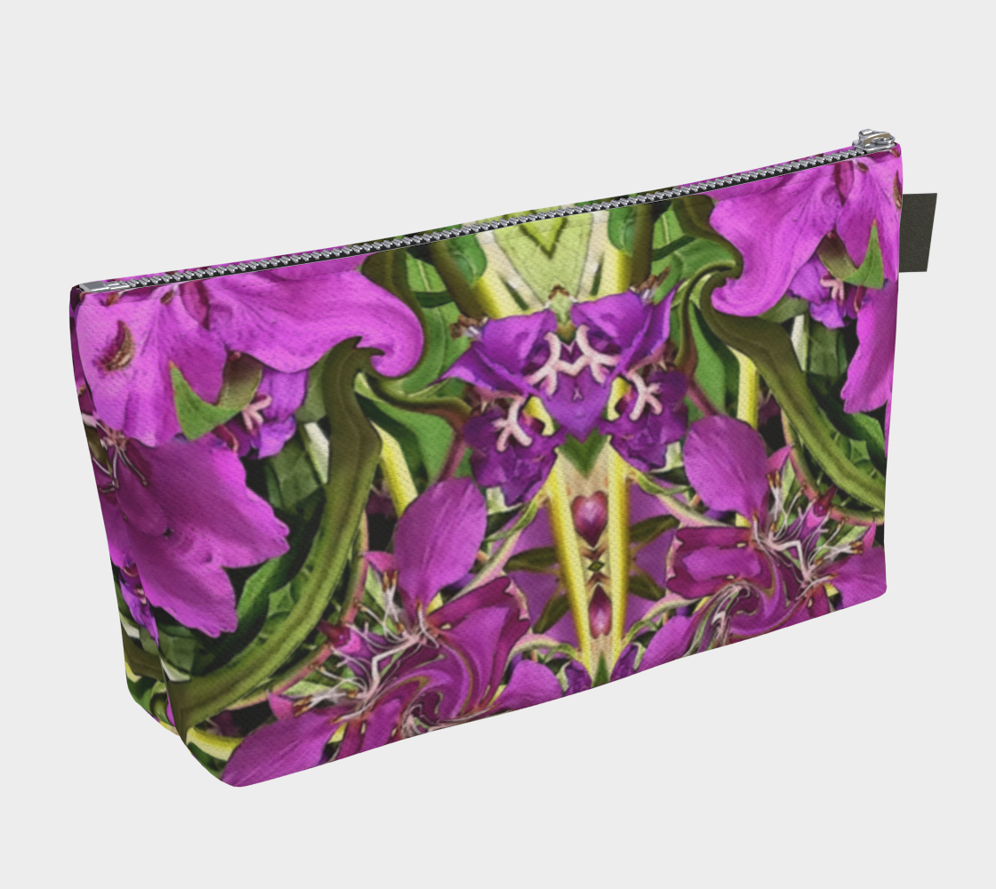 Fireweed Flower Mandala 4  Floral Makeup Bag