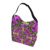 Stretchy Day Tote Bag in a Bright Summer Floral Print