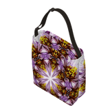 Purple Daisy Mandala Tote Bag