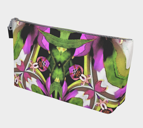 Ladies Floral Print Makeup Bag Zippered Bag