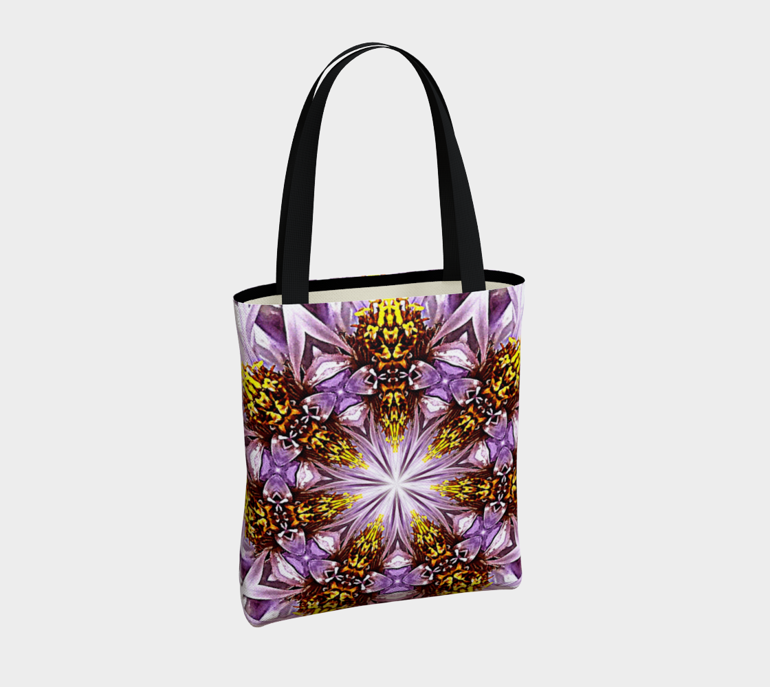 Purple Daisy Mandala Shoulder Bag