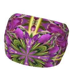 Soft stretchy headband with a lively and colorful floral mandala print