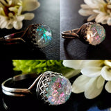 925 Sterling Silver Quartz Crystal Ring