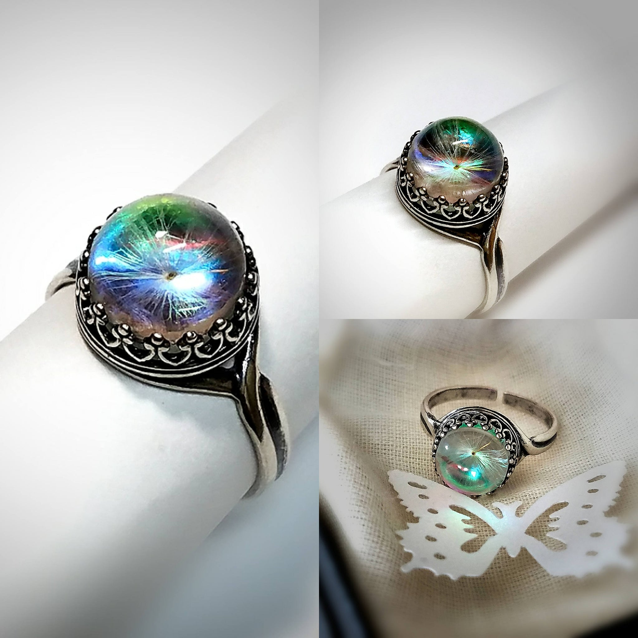 Tiny Wishes Ring Dandelion Seed Jewelry